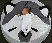 VERCART Weich Baby Kid Kleinkind Play Schielen niedlichen Fuchs kriechen Matte Teppich/Spielteppich Runde 95cm