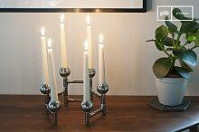 Verchromter Kerzenständer Hexabal