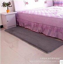 Verdicken Gewaschen Seidenhaar Rutschfest Teppich Wohnzimmer Kaffetisch Schlafzimmer Bedside Yoga Teppich , grey , 40*60cm