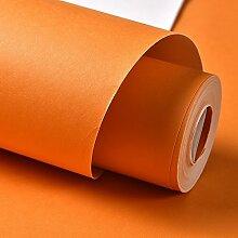 Verdicken Reine Farbe Orange Grün Farbe Grün Vlies Tapete Schlafzimmer Wohnzimmer Tv Hintergrund Wand Tapeten Orange 53Cmx1000Cm