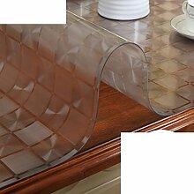 Verdicken Sie,Weichglas Kunststoff Tischdecke/Wasserdicht,Anti-hot,Ölbeständig,Einweg-tischdecke/PVC,Transparent,Matte Tisch Couchtisch Matte-G 70x130cm(28x51inch)
