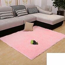 Verdickt gewaschener Seide Plüsch Wohnzimmer Couchtisch Teppiche/Schlafzimmer Teppich/Schönen Bett und Decke-G 120x160cm(47x63inch)