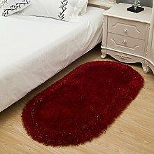 Verdickt Verschlüsselung Seidenteppich/Schlafzimmer Wohnzimmer Bett Teppich-J 70x140cm(28x55inch)