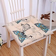 Verdickte büro kissen/stuhl mat für studenten stuhl hocker/stoff tatami kissen-J 40x40cm(16x16inch)