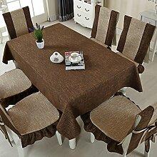 Verdickte einfarbige Tischdecke/ Baumwolle und Leinen Tischdecken/Tuch/Tischdecken/Tischdecke decke/Tischdecke decke-D 130x180cm(51x71inch)