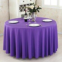 """Verdickte Polyester massiv rechteckig Tischdecke rund Tischdecke für Hochzeit redtaurant Party, eine Vielzahl von Farben und Größen zur Auswahl, dunkelviolett, 59"""" x 82"""" (150cm x 210cm)"""