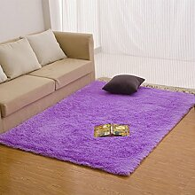Verdickte rechteckige Bett Teppich/ Zimmer-Schlafzimmer mit Teppich/ Plüsch Wohnzimmerteppich-I 120x160cm(47x63inch)