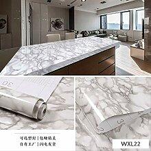 Verdickte Wasserdichte Imitation Marmor Tapete,