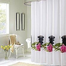 Verdickter Duschvorhang Wasserdichtes Badezimmer Polyester Duschvorhang Trennvorhang ( größe : 180*180cm )