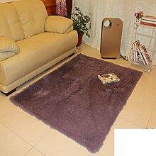 Verdickung Bett Schlafzimmer Pad waschbar Matten Erker Küche Eingang Fußmatten Bad Antirutschmatten-F 160x200cm(63x79inch)