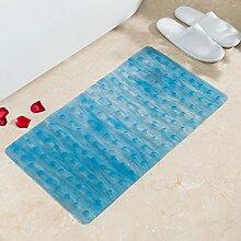 Verdickung PVC Badematte Badezimmer Dusche Bad WC matten Matte / 39 x 71 cm, 39 * 71 cm, blau