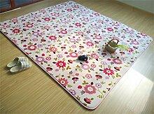 Verdickung Teppich Wohnzimmer Sofa Couchtisch Schlafzimmer Nachttisch Teppich ( farbe : E , größe : 120*160cm )