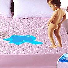 Verdickung Wasserdichte Matratze Schutzhülle / Matratze Schutz Matte (Rosa) ( größe : 120*200cm )