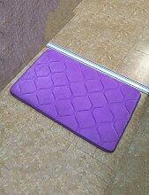 Verdickung Wellenmuster Mode Umweltschutz Anti-Rutsch-Rechteck Kreative Wasserabsorption Hall Badezimmer Schlafzimmer Küche Teppich ( Farbe : A , größe : 50*80cm )