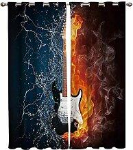 Verdunkelungsösen Vorhänge Wasserkraft Gitarre 2