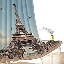 Verdunkelungsvorhänge Öse Eiffelturm Ring Top