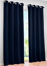 Verdunkelungsvorhang Uni, blau (H/B: 245/270 cm)