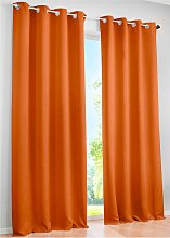 Verdunkelungsvorhang Uni, orange (H/B: 145/130 cm)