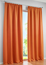 Verdunkelungsvorhang Uni, orange (H/B: 175/130 cm)