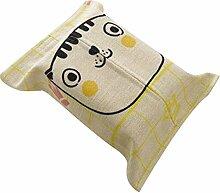 Vereinfachen Sie Serviette-Kasten-Karikatur-Papier-Tuch-Kasten Reizende Gewebe-Halter-Gewebe-Kästen