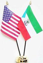Vereinigten Staaten von Amerika & Äquatorialguinea Freundschaft Tisch Flagge Display 25cm (25,4cm)