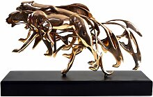 Vergoldete Panther Skulptur aus Bronze von Arman