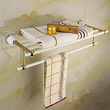 Vergoldeter Edelstahl Bad Accessoires Bad Handtuchhalter Handtuch Regal gold Bad