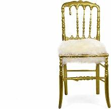 Vergoldeter Emporium Stuhl mit Fellsitz von Covet