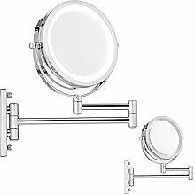 Vergrößerungs-Wandspiegel LED Beleuchtet Kosmetikspiegel Schminkspiegel