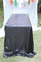 Verkauf. 180cm x 225cm Schwarz Pailletten Tischdecke/Cover für Hochzeit/Event/Party/Banke
