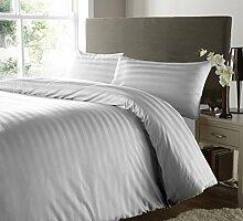 Verkauf 4Stück Bettlaken-Set Komfort 350TC Silber Grau gestreift Euro extra small single 100% ägyptische Baumwolle extra tief Pocket (26Zoll)–von TRP Blatt–B22