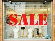 Verkauf Schaufenster Schild Aufkleber Grafik Einzelhandel Business Beschilderung Anzeige Zeichen - Hellblau Matte, S