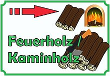 Verkaufsschild Feuerholz rechts A2 (420x594mm)