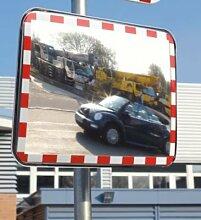 Verkehrsspiegel aus Acrylglas - Ausführung rahmenlos - BxH 800 x 600 mm - Universalspiegel Wandspiegel