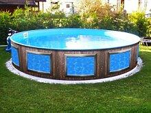 Verkleidung Pool * Aufkleber Außenwand * Swimmingpool Dekoration außen * Designbecken * Fenster A1 * Höhe: 90 cm