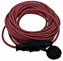 Verlängerung rot, 25m, H05RR-F 3G1,5mm², mit Schutzkontaktstecker und -kupplung