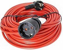Verlängerungskabel 20m Orange Verlängerung Kabel Stromkabel 10 A 250 V ~ 2200 W, H05VV-F 3G1 / 20 m