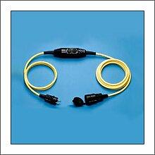 Verlängerungskabel IP44 L.4,5m gelb H07RN-F 3x1,5mm2 3-Wegekupplung