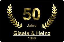 Verlag HE XXL Fußmatte Goldene Hochzeit |