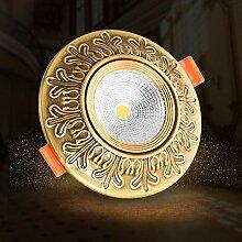 Verlight LED-Einbau-Decken-Downlights Kupfer +