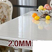 Vermeiden sie die tischdecke bügeln/kunststoff tischdecken/transparente tabelle mat/teetisch matten-A 90x160cm(35x63inch)