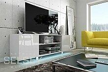 VERO TV Schrank/TV Ständer (weiß matt / glänzend weiße mit LED)