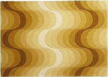 VERPAN Wave Rug Teppich 240x170 cm in Gelb