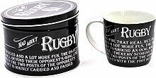 Verrückt nach Rugby - Emaille Becher und Zinn
