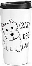 Verrückte Hund Damen Reise Becher Tasse