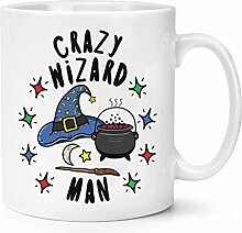 Verrückte Zauberer Mann Stars 10oz Becher Tasse