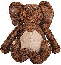 Verrückter Türstopper Elefant Leder Braun