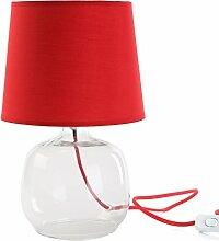 Versa - Rot Glaslampe