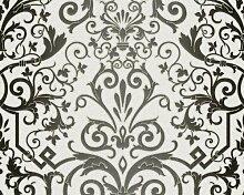 Versace Designer Barock Tapete Home Collection 935452 Jugendstil Vliestapete Vlies Tapete Weiß Schwarz Barockmuster