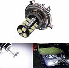 Versand kostenlos H4 27SMD Fehler freien-LED Standlicht Lampe CANBUS Xenon-weiß// H4 27SMD Error Free CANBUS Xenon Bulb LED-Scheinwerfer White
